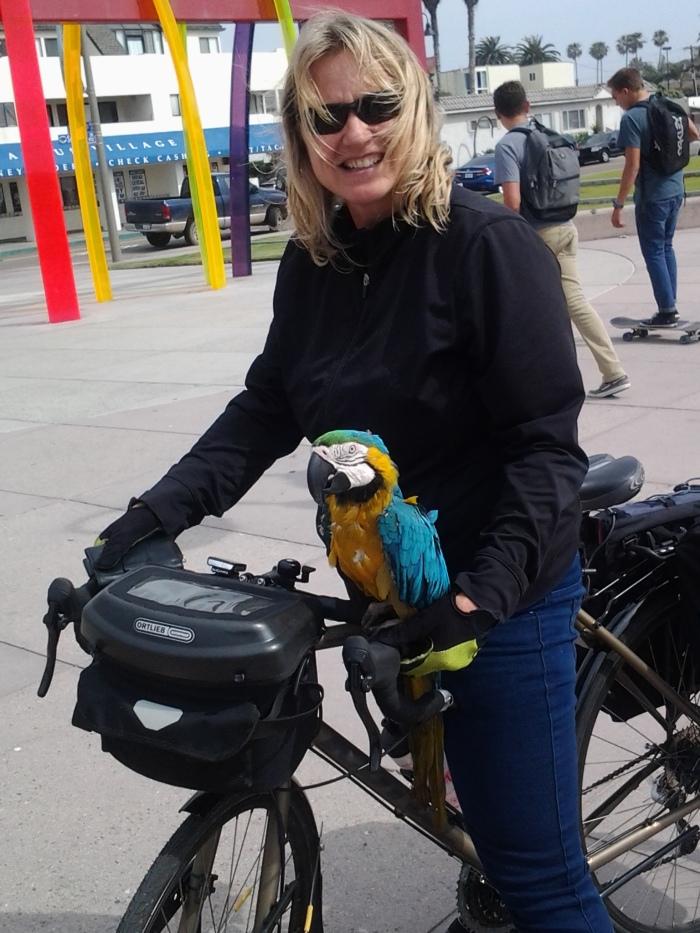 tina and parrot